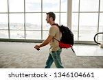 the airport passenger walk to...   Shutterstock . vector #1346104661