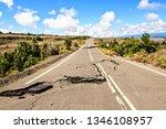 the damaged asphalt road crater ... | Shutterstock . vector #1346108957