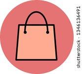illustration shopping bag icon  | Shutterstock . vector #1346136491