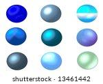 blue round website buttons  ... | Shutterstock . vector #13461442