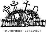 black and white vector... | Shutterstock .eps vector #134614877