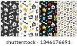 graffiti hip hop tags hand... | Shutterstock .eps vector #1346176691