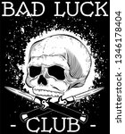 welcome in our bad luck club  | Shutterstock .eps vector #1346178404