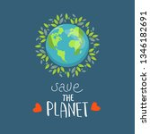 save our planet earth  ecology... | Shutterstock .eps vector #1346182691