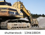 giant super bulldozer seen from ... | Shutterstock . vector #134618834