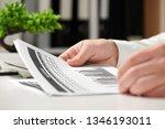 businessman working in office... | Shutterstock . vector #1346193011