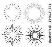 sunburst. sunrise firework... | Shutterstock .eps vector #1346194931