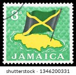 jamaica   circa 1964  postage... | Shutterstock . vector #1346200331