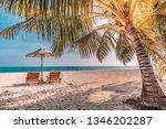 beautiful beach. summer holiday ...   Shutterstock . vector #1346202287