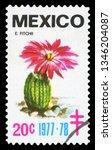 mexico   circa 1977  a stamp... | Shutterstock . vector #1346204087
