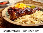 delicious chicken inasal with... | Shutterstock . vector #1346224424