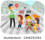 illustration of stickman kids... | Shutterstock .eps vector #1346231561