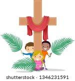 illustration of stickman kids... | Shutterstock .eps vector #1346231591