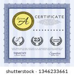 blue certificate template. with ...   Shutterstock .eps vector #1346233661