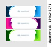 geometric banner templates.... | Shutterstock .eps vector #1346245271