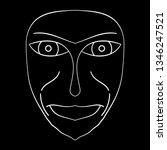cartoon face. contour face...   Shutterstock .eps vector #1346247521