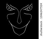 cartoon face. contour face...   Shutterstock .eps vector #1346247524