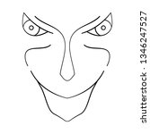 cartoon face. contour face...   Shutterstock .eps vector #1346247527