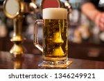 horizontal closeup of a pint of ...   Shutterstock . vector #1346249921