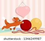 vector illustration of kitten... | Shutterstock .eps vector #1346249987