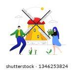 travel to netherlands  ...   Shutterstock .eps vector #1346253824
