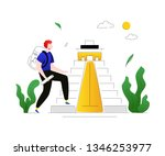 visit mexico   colorful flat...   Shutterstock .eps vector #1346253977