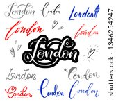 set of hand lettering london  ... | Shutterstock .eps vector #1346254247