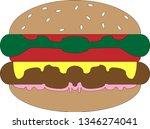burger vector background   Shutterstock .eps vector #1346274041