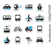 transport  travel vector icons... | Shutterstock .eps vector #134627429