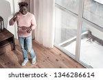 so pleased. pleased dark... | Shutterstock . vector #1346286614