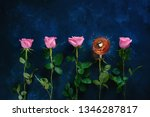 teacup with a rose stem in a... | Shutterstock . vector #1346287817
