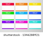 nametag stickers set. blind and ... | Shutterstock .eps vector #1346288921