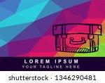 vector illustration rainbow...   Shutterstock .eps vector #1346290481