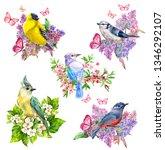 happy collection of pretty cute ... | Shutterstock . vector #1346292107