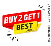 sale banner buy 2 get 1 free    Shutterstock .eps vector #1346293517