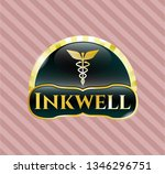 shiny emblem with caduceus...   Shutterstock .eps vector #1346296751