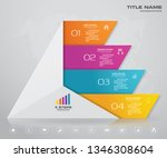 4 steps pyramid with free space ... | Shutterstock .eps vector #1346308604