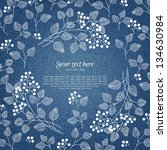 banner on denim background with ... | Shutterstock .eps vector #134630984