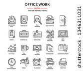 business and office work.... | Shutterstock .eps vector #1346311031
