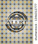 alert arabic badge. arabesque... | Shutterstock .eps vector #1346312777