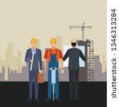 construction workers workers...   Shutterstock .eps vector #1346313284