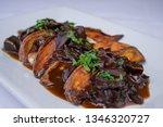 sweet potatoes with mushroom... | Shutterstock . vector #1346320727