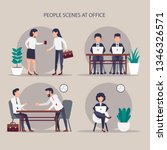 business characters. co working ... | Shutterstock .eps vector #1346326571