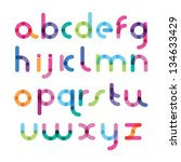 bright font with the mixed color