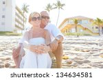 mature happy couple at the... | Shutterstock . vector #134634581