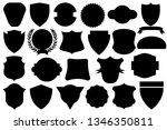 black shields set | Shutterstock . vector #1346350811