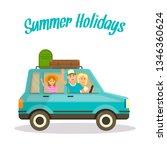 summer holidays square banner....   Shutterstock .eps vector #1346360624