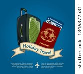 holiday travel banner or poster ...   Shutterstock .eps vector #1346372531