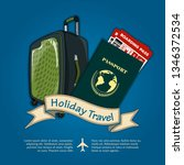 holiday travel banner or poster ...   Shutterstock .eps vector #1346372534