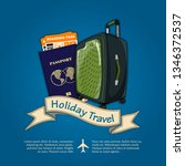holiday travel banner or poster ...   Shutterstock .eps vector #1346372537
